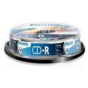 CD-R 700Mb Philips, 52X Cake Box 10 шт.