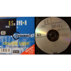 DVD+R 8.5Gb 8X Intenso DUAL LAYER Jewel Case, 1 шт.