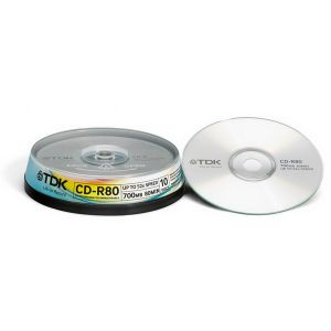CD-R 700Mb TDK 52X CakeBox 10шт.