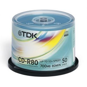CD-R 700Mb TDK 52X CakeBox 50шт.