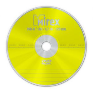 DVD-R 4.7Gb 16X Mirex Cake box 10шт
