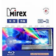 Blu-Ray 25Gb 2X Mirex, Jewel Case, 1 шт.