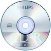 CD-R 700Mb Philips, 52X Cake Box, 1 шт.