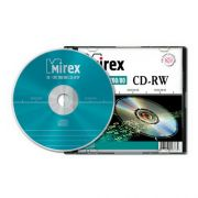 CD-RW 700Mb Mirex 4-12X Slim Box, 1 шт.