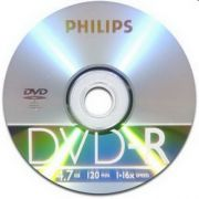 DVD-R 4.7Gb 16X PHILIPS Cake Box, 1 шт.