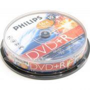 DVD+R 4.7Gb 16X PHILIPS Cake Box, 10 шт.