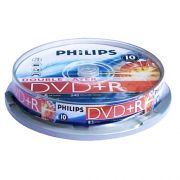 DVD+R 8.5Gb 8X PHILIPS Cake Box DUAL LAYER, 1 шт.