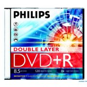 DVD+R 8.5Gb 8X PHILIPS Jewel case DUAL LAYER, 1 шт.