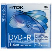 miniDVD-R TDK 1.4Gb, 2x, Jewel Case, Scratch Proof, 1 шт.