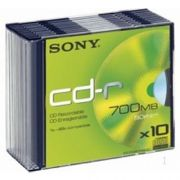 CD-R 700Mb Sony 48x SlimCase, 10шт.