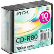 CD-R 700Mb TDK 52X Slim Case, 10шт.,