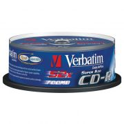 CD-R 700Mb Verbatim 48-52X CakeBox 25шт. DL+