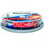 DVD+RW 4.7Gb 4X Philips Cake Box 10шт.