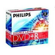 DVD+R 8.5Gb 8X Philips DUAL LAYER Jewel Case 5шт.