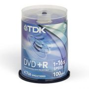 DVD+R 4.7Gb 16X TDK Cake box 100шт.
