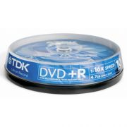 DVD+R 4.7Gb 16X TDK Cake Box 10шт.
